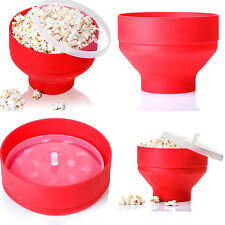 Folding Microwave DIYcorn Silicone Bucket High Temperature Resistant Prof