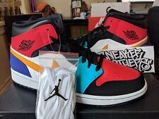 sports shoes 3b087 0611e Nike Air Jordan Retro I 1 Mid Multi-Color What The White Red Black 554724