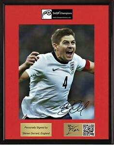 Steven Gerrard, England - SOQR CHAMPIONS display with autographed photo & CoA