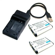 Battery / USB Charger For Olympus VR-310 VR-320 VR-330 X-15 X-560 WP X-600 X-730