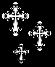 "Stencil Cross 3 Sizes Art Paint Lg Size 9.5"" x 11.5"" Overall"