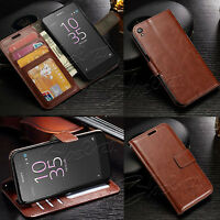 Luxury Classic Wallet Leather Case Cover For Sony Xperia Phones + Screen Guard