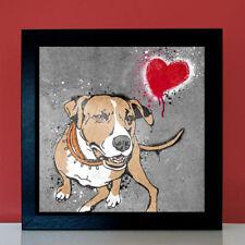 American Pitbull Terrier Graffiti Urban StreetArt Poster Bild Foto Fotoposter L