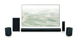LG 4.1 Channel 420W Soundbar Surround w/ Wireless Speakers - SLM4R ~ Open Box