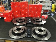 VAUXHALL ZAFIRA 2.0T VXR BRAKE DISCS CROSS DRILLED GROOVED PADS FRONT REAR TRW