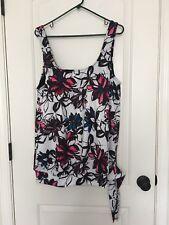 SwimSuiits For All Women's SwimWear Tankini Top Sz 22 MultiColor Clothes