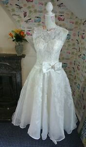 Wedding Dress 50's style Tea dress length