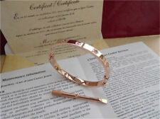 Bracelet Jonc CARTIER Love en or rose 18 carats, taille 17, avec diamants