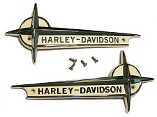 Harley - Davidson Gas Tank EMBLEMS with SCREWS for 1961 - 1962 Pan & Servi-Car