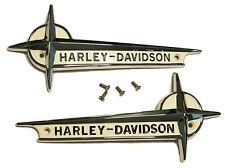 Harley - Davidson Gas Tank EMBLEMS with SCREWS for 1961 - 1962 Pan & Servi-Car