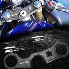 Handle Yoke Carbon Fiber Look Cover+Black Emblem Sticker 06-17 GSXR 600/750 GSX
