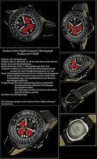 Gadison Stern, Aviateur Noir Horloge Chronographe Hommes