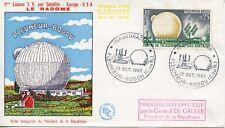 FDC INAUGURATION 1° LIAISON SATELLITE LE RADOME / PAR LE GENERAL DE GAULLE 1962