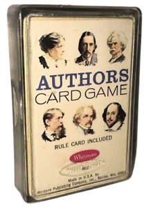 Vintage Whitman AUTHORS Card Game - Complete Deck in Case with Rules (4497)
