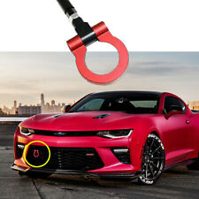 For 2016-2019 Chevrolet Camaro Red Track Racing JDM Style CNC Aluminum Tow Hook