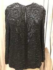 Vintage Beaded And Sequins Cardigan Jacket L