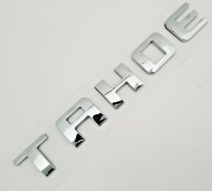 1 CHROME TAHOE FIT CHEVY REAR TRUNK TAILGATE LIFTGATE EMBLEM BADGE DECAL 1995-17