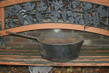 Antique Cast Iron Cooking Cauldron Pot W/2 Handles-LARGE-Primitive Country Decor