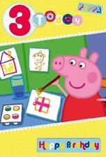 "Official Licensed Large Peppa Pig ""AGE 3"" Birthday Card"