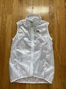 Louis Garneau LG Full Zipper White Cycling Lightweight Vest M NWOT