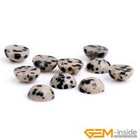 Natural Gemstone Dalmation Jasper CAB Cabochon Beads For Jewelry Making 5 Pcs YB
