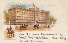 London Vignette Postcard. Buckingham Palace. Queen's Outrider.  Undivided!  1902