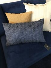 "Hotel Collection Cubist 14"" x 24"" Embroidered Decorative Pillow - Blue"