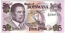 **   BOTSWANA     5  pula   1992   p-11a    UNC   **