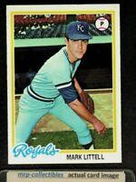 1978 Topps #331 Mark Littell Kansas City Royals Baseball Card NM