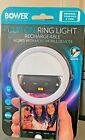 Bower Rechargeable Clip-On 36 LED Ring Light White Selfie Smart Phones NEW
