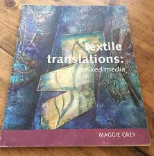 01892617999 Textile Traductions Technique Mixte Livre Maggie Gris 2008 Tissu