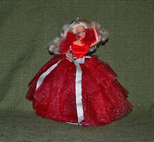 Barbie 1988 Happy Holidays Doll in Display Case