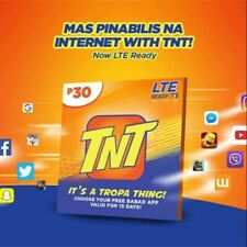 TNT Prepaid SIM Card Triple-Cut SIM Fits in regular, micro, and nano Enjoy High