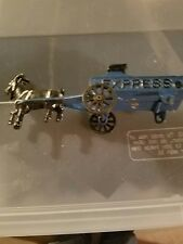 """Cast Iron, Vintage Toy  """"EXPRESS"""" Buggy PULLED BY A GOAT. Made in USA"""