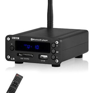 HiFi Bluetooth 5.0 Digital Amplifier Desktop Headphone Amp SD / USB Music Player