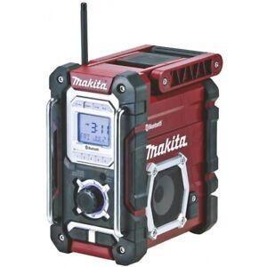 Makita DMR108AR Baustellenradio rot/schwarz 2-zeiliges LCD-Display Tragegriff