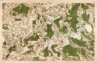 MAP CASSINI FRANCE 18TH CENTURY TONNERE BURGUNDY REPLICA POSTER PRINT PAM0815