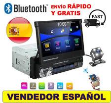Radio Pantalla Tactil 7 Pulgadas 1 Din Extraible Bluetooth USB Camara Trasera