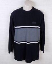 Chaps Ralph Lauren Striped Black Long Sleeve Shirt Size Medium