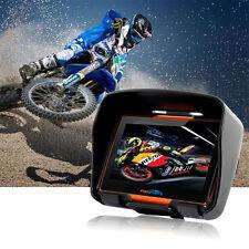 "Moto GPS Navigator Impermeabile Motocicletta Bluetooth 4,3"" Schermo 8GB EU Mappe"