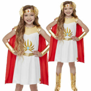 80s She-Ra Princess of Power Girls Fancy Dress Heroine Kids Book Day Costume