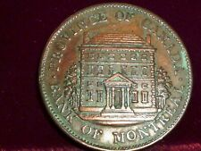 1844  PROVINCE OF CANADA , BANK OF MONTREAL1/2p TOKEN . BRETON # 527 , PC-1B1.