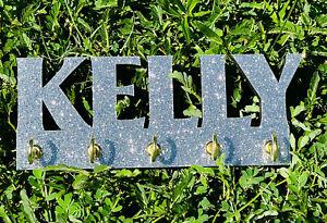 Glitter custom acrylic Key Ring holder Wall mount holder key chain rack-colors!