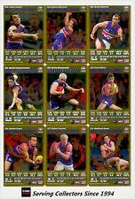 2007 AFL Teamcoach Trading Card Gold Team Set Western Bulldogs (12)
