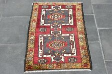Turkish Natural Home Decor Doormat Rug Hand Knotted Fleshy Rug 21  x 37 in Rug