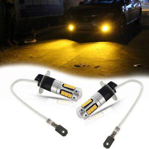 Amber Yellow H3 LED Bulbs High Power LED For 87-13 Fog Lamp DRL Daytime Lights