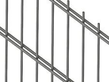 NEUHEIT! Doppelstab Zaun Gartenzaun kpl mit Pfosten 80m 183cm RAL9006 SILBER