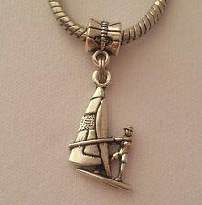 Sailboat Boat Ocean Yacht Nautical Beach Dangle Bead Fit European Charm Bracelet
