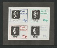 GUGH ISLAND ROWLAND HILL CENTENARY IMPERFORATE MINIATURE SHEET MNH