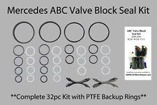 Mercedes ABC Valve Block PTFE reseal rebuild seal kit **COMPLETE KIT 32pcs**